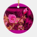 Tulipanes hinchados metálicos ornamentos de navidad