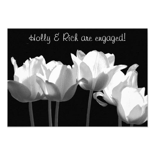 Tulipanes, invitación del fiesta de compromiso de
