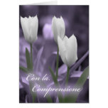Tulipanes italianos de la tarjeta de condolencia
