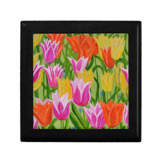 Tulipanes Joyero Cuadrado Pequeño
