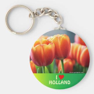 Tulipanes Llavero Redondo Tipo Pin