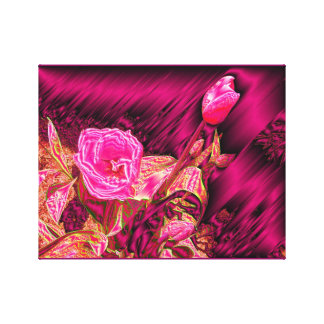 Tulipanes metálicos lienzo envuelto para galerías