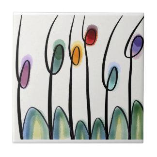 Tulipanes modernos azulejo cuadrado pequeño