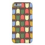 tulipanes modernos en el caso del iPhone 6