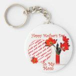Tulipanes para el día de madre llaveros personalizados
