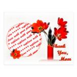 Tulipanes para el día de madre postal