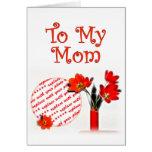 Tulipanes para el día de madre tarjeta