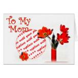 Tulipanes para el día de madre tarjeton