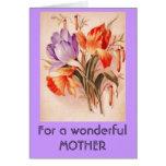 tulipanes para una tarjeta greeeting de la madre m
