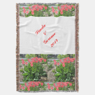 Tulipanes personalizados casando la manta