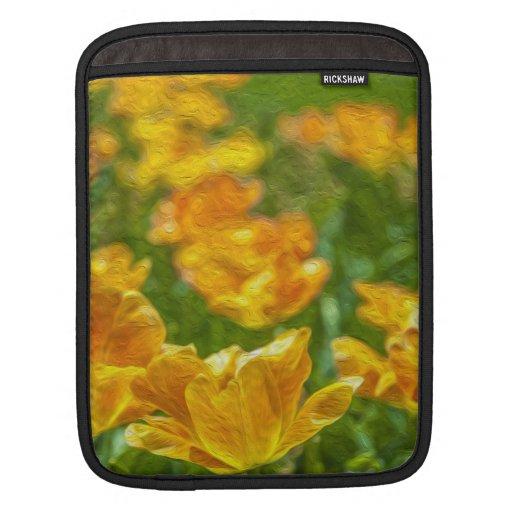 Tulipanes pintados mangas de iPad