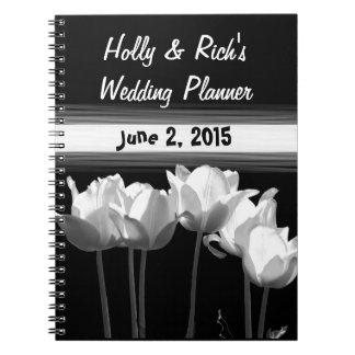 Tulipanes, planificador del boda de B&W Cuaderno