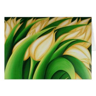 Tulipanes poner crema de Pascua Tarjeta De Felicitación