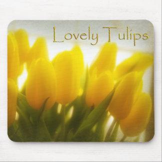 Tulipanes preciosos (cojín de ratón) tapetes de raton