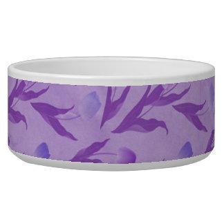 Tulipanes púrpuras para la conciencia tazones para perro