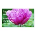 Tulipanes púrpuras plantilla de tarjeta personal