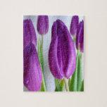 Tulipanes púrpuras puzzle