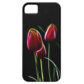 Tulipanes que brillan intensamente funda para iPhone SE/5/5s