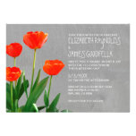 Tulipanes que casan invitaciones