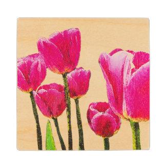 Tulipanes que pintan en el práctico de costa de