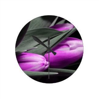 tulipanes reloj redondo mediano