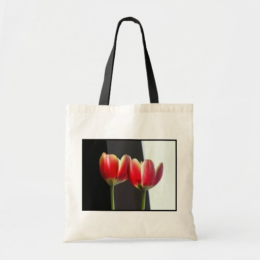 Tulipanes rojos bolsa tela barata