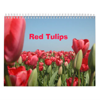 Tulipanes rojos calendarios