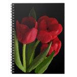Tulipanes rojos cuadernos