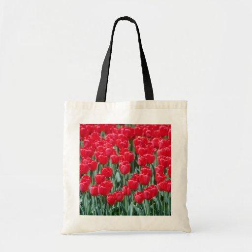 Tulipanes rojos, flores de Ottawa Bolsa De Mano