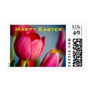 Tulipanes rojos • Sello de Pascua