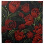 Tulipanes rojos servilletas