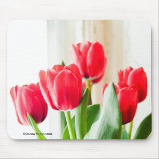 Tulipanes rojos tapetes de ratones