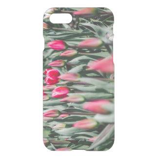Tulipanes rojos y rosados, campo de flor en funda para iPhone 7