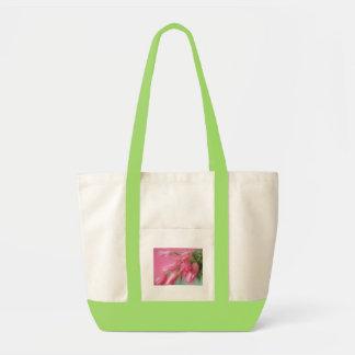 Tulipanes rosados bolsa de mano