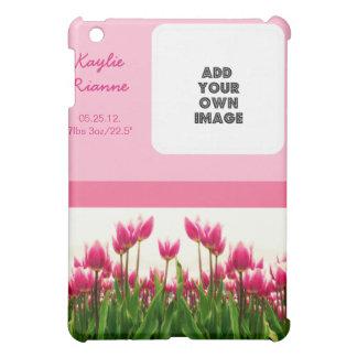 Tulipanes rosados bonitos de la plantilla de la fo