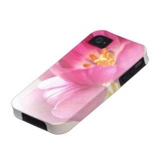 Tulipanes rosados bonitos iPhone 4 carcasas