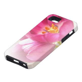 Tulipanes rosados bonitos funda para iPhone 5 tough