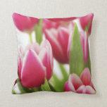 Tulipanes rosados cojin