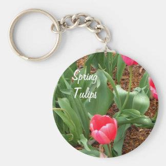 Tulipanes rosados de la primavera por CricketDiane Llavero