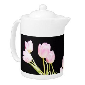 Tulipanes rosados helados