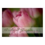 Tulipanes rosados • Huésped que asienta la mini ta Plantillas De Tarjetas De Visita