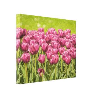 Tulipanes rosados - lona impresión en lona