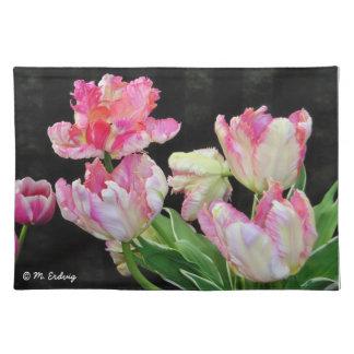Tulipanes rosados Placemats Mantel Individual