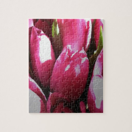 Tulipanes rosados puzzle con fotos