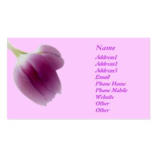 Tulipanes rosados soñadores elegantes de moda del tarjetas de visita