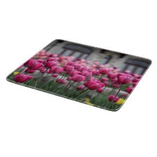 Tulipanes rosados - tablero del corte del vidrio tabla para cortar