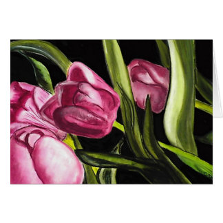 Tulipanes rosados felicitación