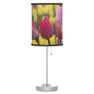 Tulipanes rosados y amarillos