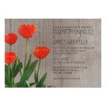 Tulipanes rústicos que casan invitaciones