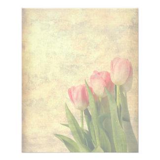"""Tulipanes suaves en el aviador del papel del vinta folleto 4.5"""" x 5.6"""""""